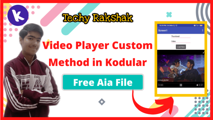 Custom video Player in Kodular