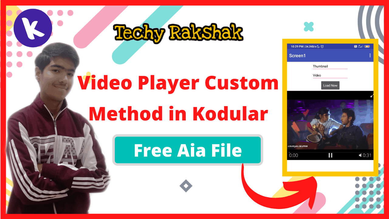 Custom video Player in Kodular